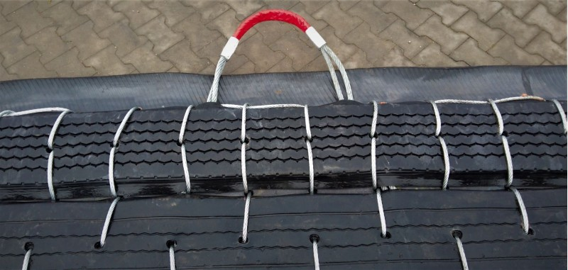 double lifting strap of 22 mm wire